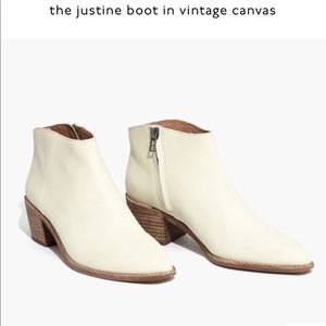 Madewell Justine Boot in Canvas